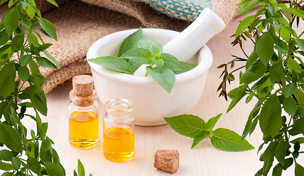 albahaca baño aceite esencial