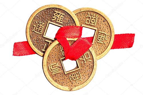 tres monedas chinas