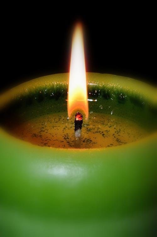 vela verde significado