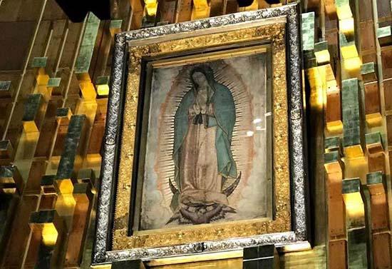 imagen de la Guadulupe en la basílica