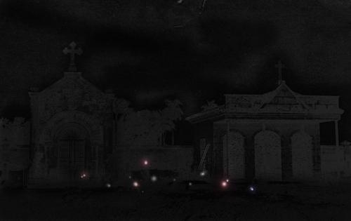 fuegos fatuos cementerio